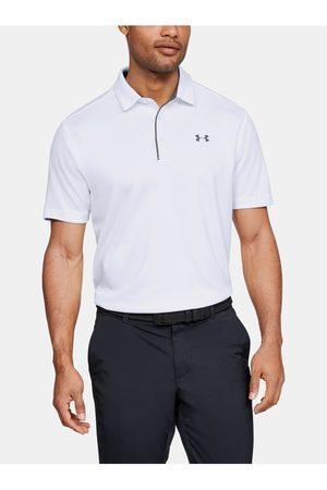 Under Armour Bílé pánské polo tričko