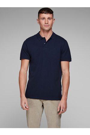 JACK & JONES Modré basic polo tričko