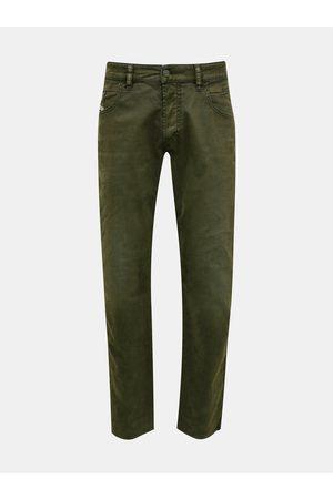 Diesel Tmavě zelené pánské slim fit džíny