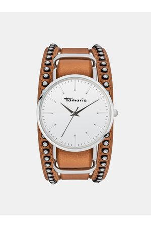 Tamaris Dámské hodinky s hnědým páskem