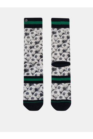 Xpooos Bílé pánské vzorované ponožky