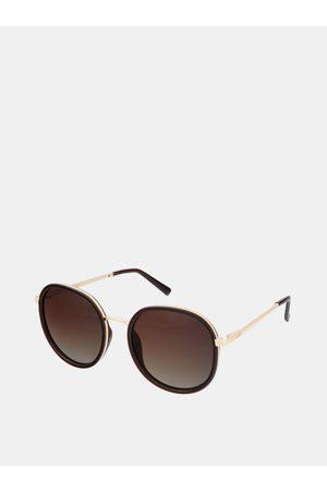 crullé Dámské sluneční brýle ve zlaté barvě