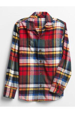 GAP Červeno-zelená kostkovaná klučičí košile