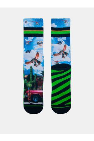 Xpooos Modro-zelené pánské ponožky