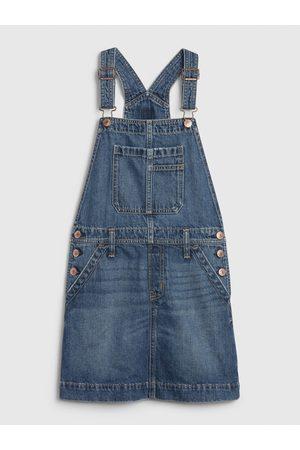 GAP Holčičí dětská džínová sukně s laclem overal denim skirtall