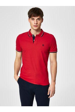 SELECTED Červené polo tričko s výšivkou New Season