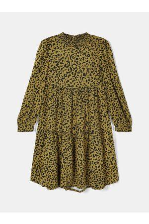 NAME IT Žluté holčičí vzorované šaty