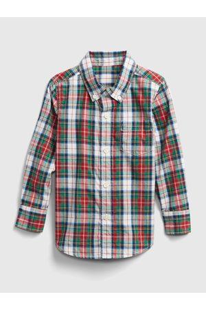 GAP Modro-červená károvaná klučičí košile