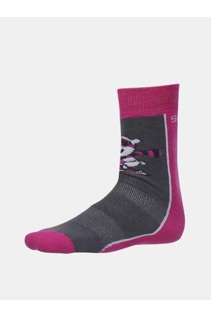 sam 73 Růžovo-šedé holčičí ponožky Matanuska