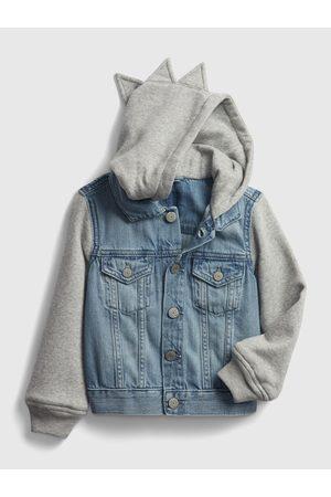 GAP Klučičí dětská bunda dinosaur denim jacket