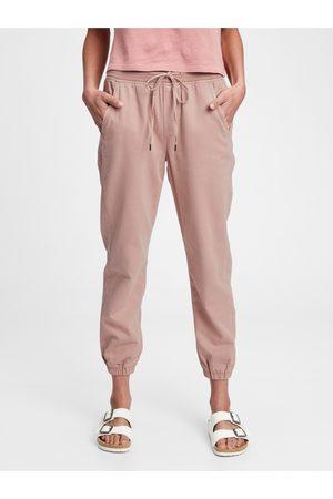GAP Růžové dámské kalhoty rib pull on jo