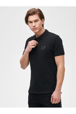 GAP Černé pánské polo tričko Logo pique