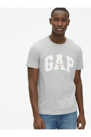 GAP Šedé pánské tričko Logo