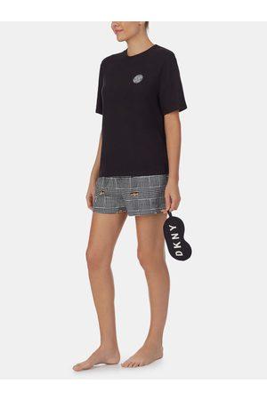 DKNY Černé vzorované pyžamo