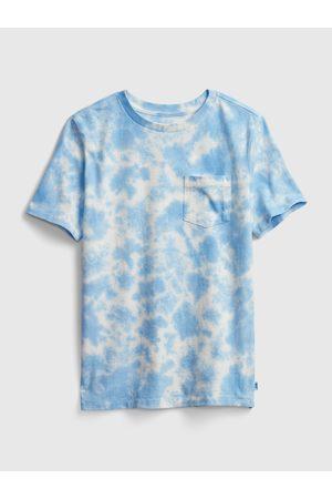 GAP Modré klučičí dětské tričko speckled dye