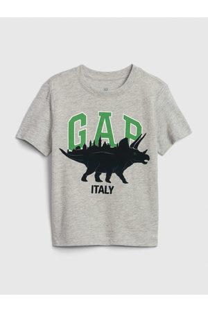 GAP Šedé klučičí dětské tričko Logo dino