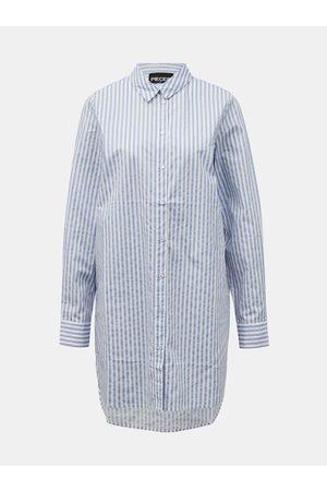Pieces Pruhovaná dlouhá košile Sheridan