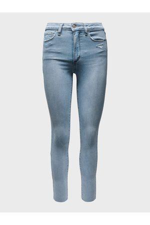 GAP Modré dámské džíny universal jegging high rise delancey