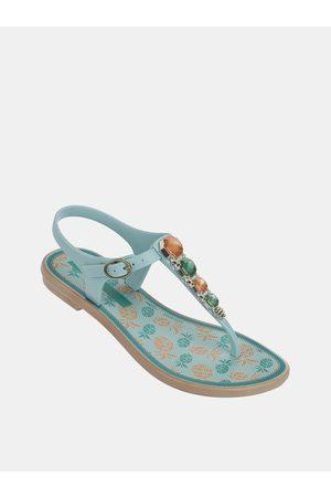 Grendha Modré holčičí sandály