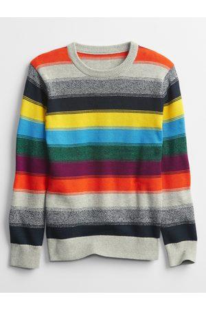 GAP Šedo-oranžový klučičí svetr
