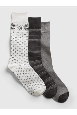 GAP Barevné pánské ponožky crew socks, 3 páry