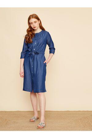 Zoot Modré košilové džínové šaty Emilie