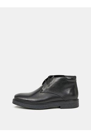 Vagabond Černé pánské kožené polobotky Shoemakers
