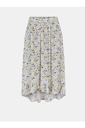Pieces Fialovo- květovaná midi sukně Mayrin