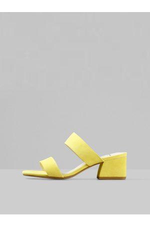 Vagabond Žluté dámské semišové pantofle