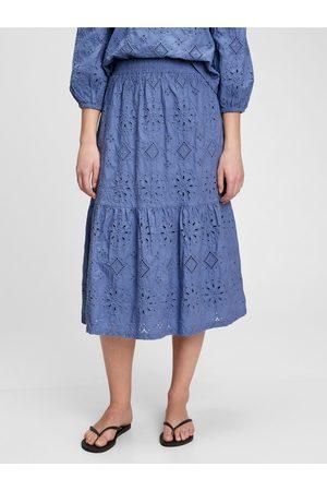GAP Dámská sukně eyelet midi sk