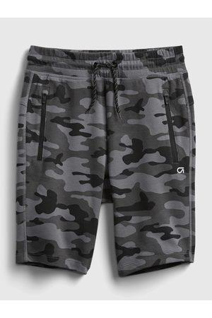 GAP Černé klučičí dětské teplákové kraťasy fit fit tech shorts