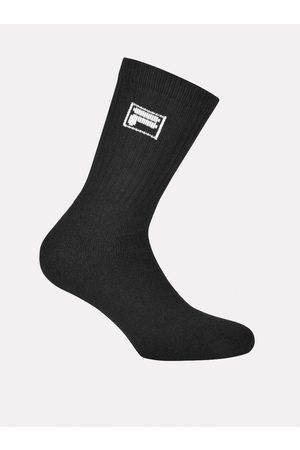 Fila Sada tří párů pánských černých ponožek