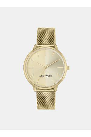 Nine West Dámské hodinky s kovovým páskem ve zlaté barvě