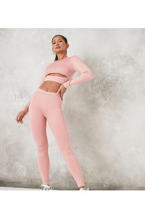 Missguided MSGD co-ord legging with seam front detail in blush-Pink