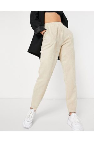 Parisian Suedette joggers co-ord in beige-Brown