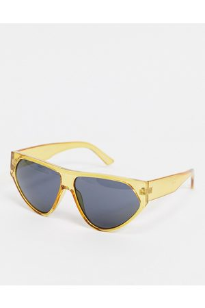 Jeepers Peepers Unisex flatbrow sunglasses in yellow