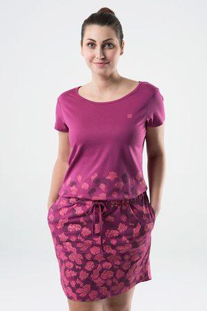 LOAP Ženy Šaty - Dámské tmavě růžové šaty Asmen