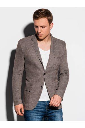 Ombre Clothing Muži Saka - Pánské casual sako M162 - hnědá