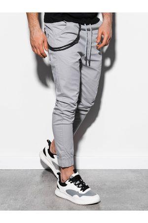 Ombre Clothing Pánské jogger kalhoty P908 - světle šedé