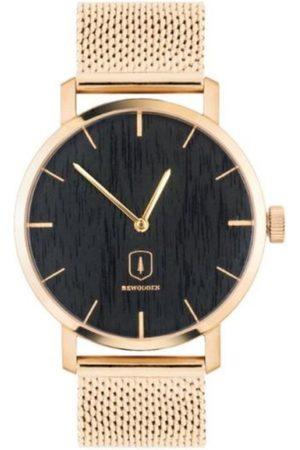 BeWooden Dřevěné hodinky Sunset Watch s kovovým řemínkem