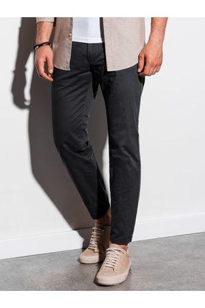 Ombre Clothing Pánské chinos kalhoty P894 - černé