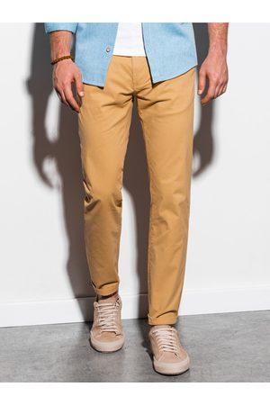 Ombre Clothing Pánské chinos kalhoty P894 - tmavě