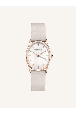 ROSEFIELD Dámské hodinky se světle šedým koženým páskem