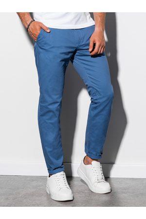 Ombre Clothing Pánské chinos kalhoty P894 - nebesky