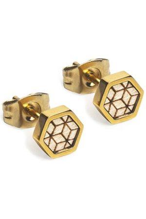 BeWooden Náušnice s dřevěným detailem Virie Earrings Hexagon