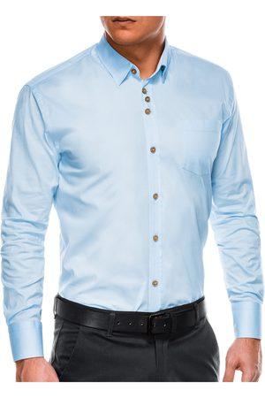 Ombre Clothing Pánská elegantní košile s dlouhým rukávem K302 - blankytná
