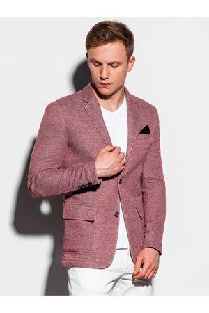 Ombre Clothing Pánské casual sako M162 - bordó