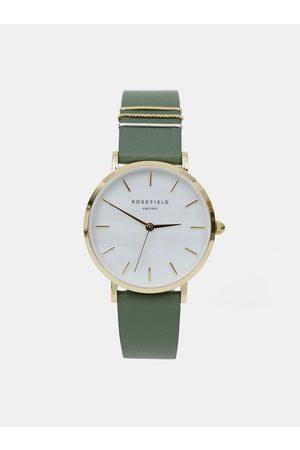ROSEFIELD Dámské hodinky se zeleným koženým páskem