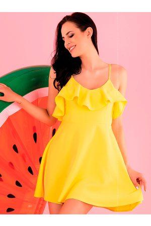 Merribel Dámské šaty model P43891 - lemon
