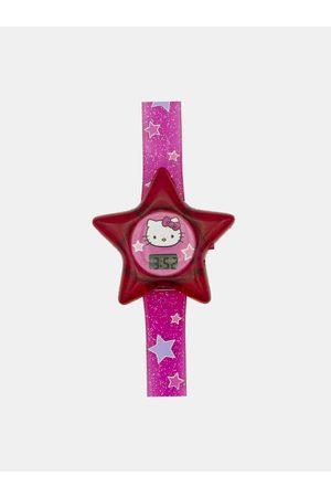 Hello Kitty Růžové hodinky ve tvaru hvězdy